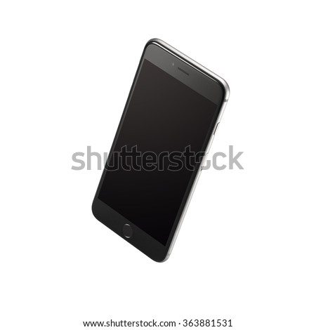 Mobile phone on the white background - stock photo