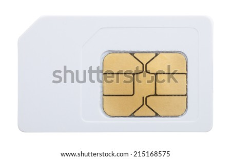 mobile phone sim card - stock photo