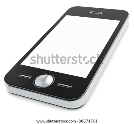Mobile Phone with blank Screen for Copy Space. - stock photo