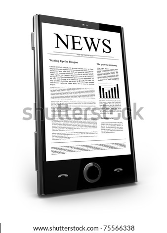 Mobile phone with flash news web site
