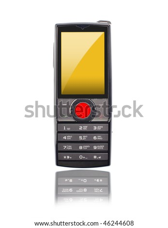 mobile phone with red button