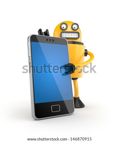Mobile phone with robot