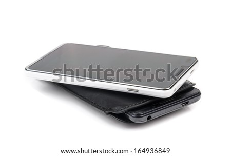 Mobile phone with touch screen.  - stock photo
