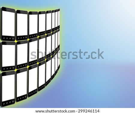 Mobile Phones Decorative Wall Stock Illustration 299246114 ...