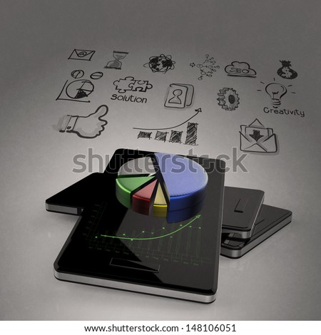 mobile phones technology business  - stock photo