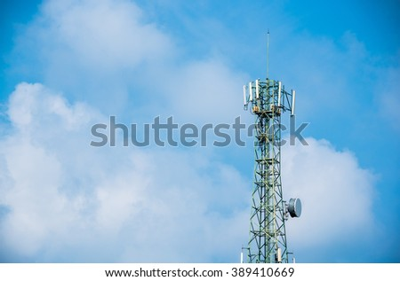 Mobile's antenna and blue sky.