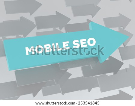 MOBILE SEO - stock photo