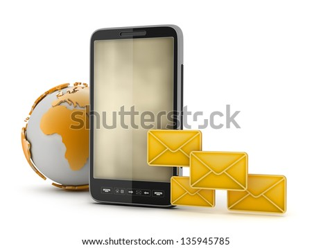 Mobile technology - concept illustration - stock photo