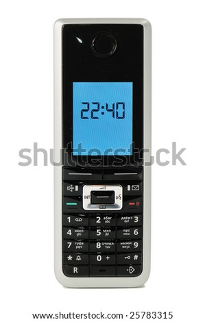 mobile telephone,  isolated on the white background. close-up - stock photo