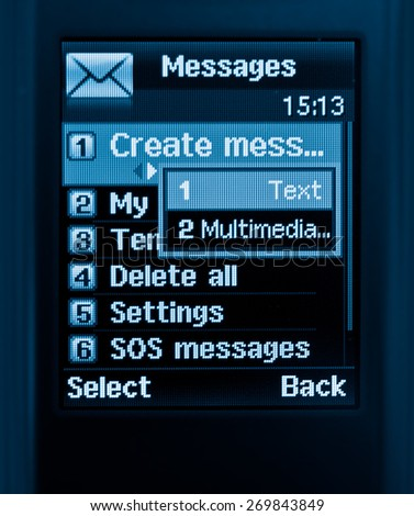 mobile text message - stock photo
