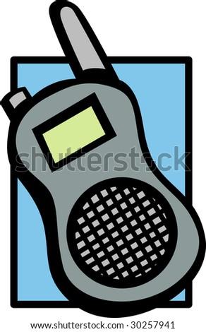 mobile walkie talkie radio or police scanner - stock photo