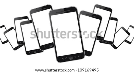 Mobiles phone isolated on white background