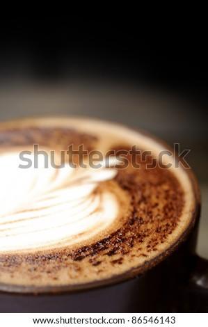 Mocha coffee closeup relax time concept - stock photo