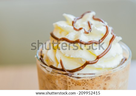 Mocha coffee frappe - stock photo