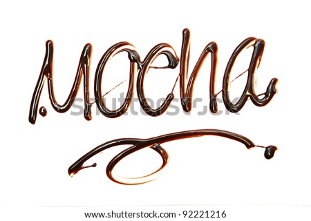 mocha Just for you text made of chocolate  design element.