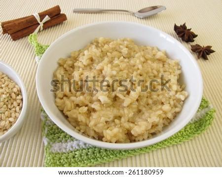 Mochi milk rice pudding - stock photo