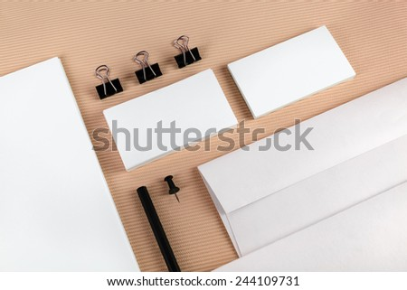 Mock-up for branding identity for designers. Top view. - stock photo