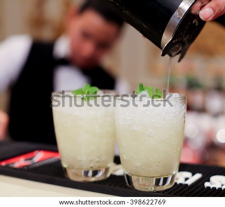 Mocktails party - stock photo