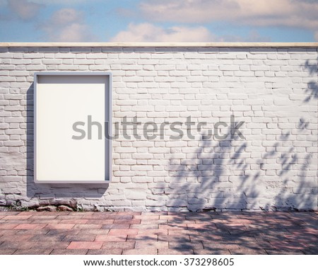 mockup billboard on the fence - stock photo