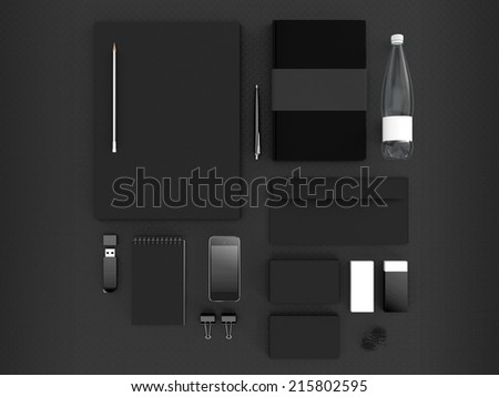 Mockup business template - stock photo