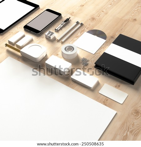 Mockup business template. High resolution. 3D render