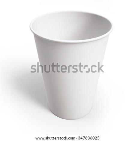 mockup cardboard coffee cup - stock photo