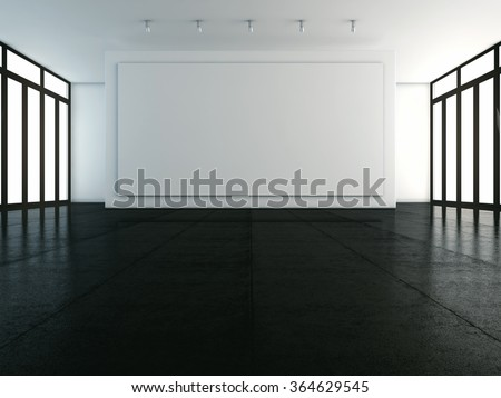 Mockup of empty white backdrop
