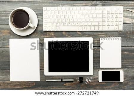 Mockup, tablet, ipad. - stock photo