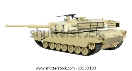Model Abrams tank used by the US army - stock photo