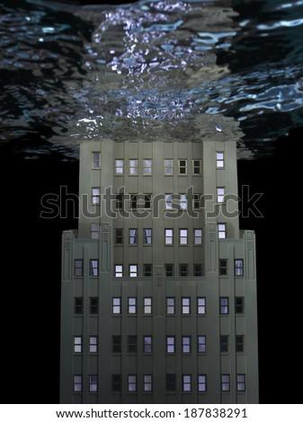 Model Building underwater - stock photo