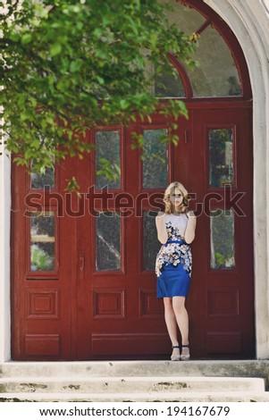 model girl in  the city  - stock photo