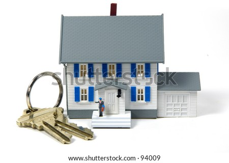 Model House and House Keys - stock photo