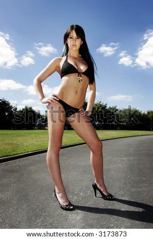 Model in Bikini - stock photo