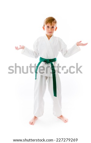 model isolated on plain background puzzled confused lost - stock photo