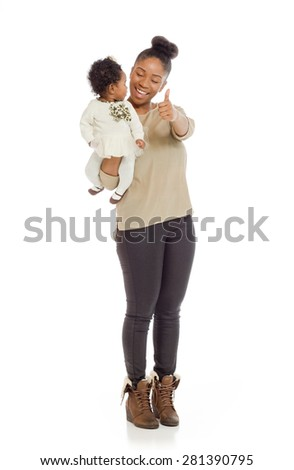 Model isolated thumbs up success - stock photo