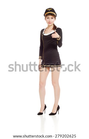 Model isolated with hand shake
