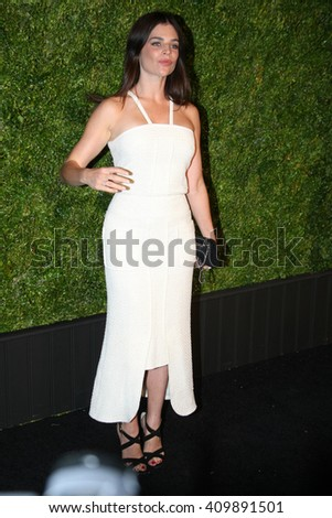 Model Julia Restoin Roitfeld attends the 11th Annual Chanel Tribeca Film Festival Artists Dinner at Balthazar on April 18, 2016 in New York City.
