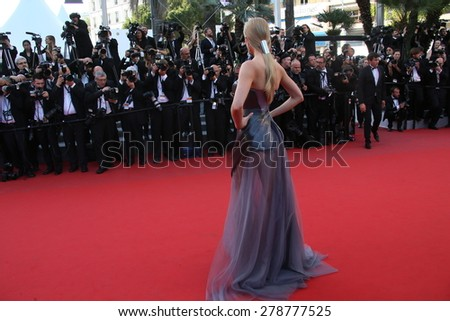 Model Lindsay Ellingson attends the 'Carol' Premiere during the 68th annual Cannes Film Festival on May 17, 2015 in Cannes, France. - stock photo