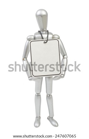 Model mannequin man isolated on white background - stock photo