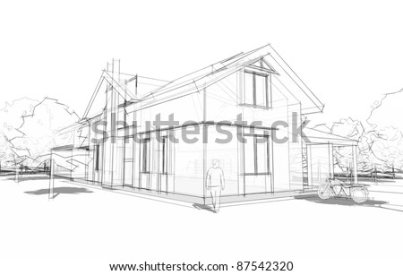 model of a house - stock photo
