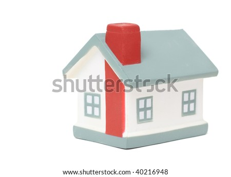 Model of a house isolated on white - stock photo