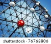 Model of a network , 3d illustration - stock photo