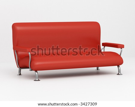 Model of a sofa on a white background 3D