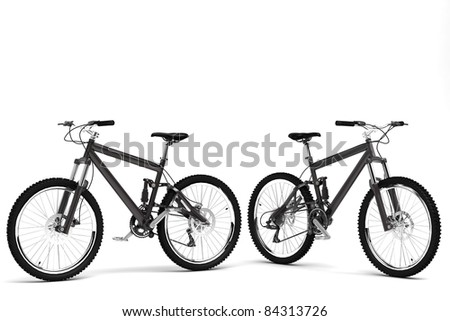 Model of a sports bicycle - stock photo