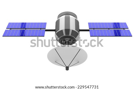 Model of an artificial satellite - stock photo