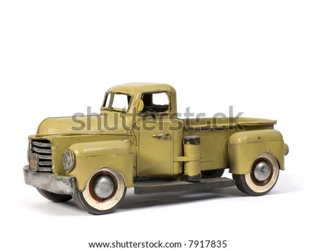 Model of ancient truck made with tinplate - stock photo