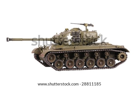 Model of M-24 heavy tank isolated