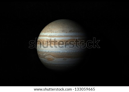 Model Of Planet Jupiter - stock photo