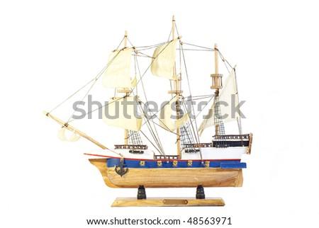 Model of ship - stock photo