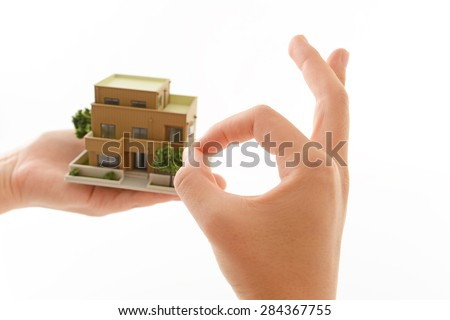 Model of small house - stock photo